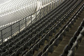 Rows of stadium chairs — Foto Stock