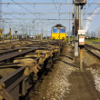 Stock Photo: Freight train departure