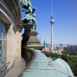 The TV tower seen from the Berliner Dom. — Stock Photo