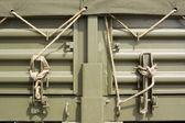 Corda de encerado de caminhão de exército — Foto Stock