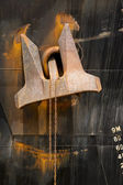 Velká loď kotva — Stock fotografie