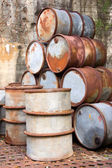 Rusty Oil Drums — Stock Photo