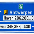 Road to the port of Antwerp — Stock Photo #17826207