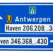 Road to the port of Antwerp — Stock Photo