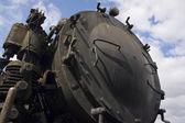 Locomotive à vapeur rouillé — Photo