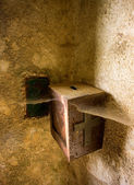 Offertory box in church — Stock Photo