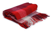 Red blanket — Stock Photo