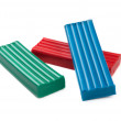 Plasticine blocks — Stock Photo