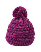 Purple bobble hat  — Stock Photo