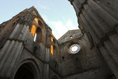 Abbey of San Galagano at sunset — Stock Photo