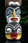 Detail of totem pole — Stock Photo