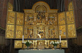 The altar of Roskilde Cathedral — Stock Photo