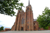 Exterior of the cathedral of Roskilde in Denmark — Stock Photo