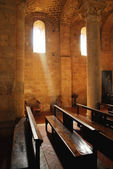 Abbey interior — Stock Photo