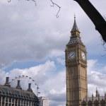 Torre dell'orologio Big ben — Foto Stock #18653065