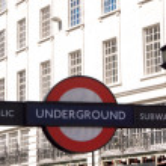 Underground sign London — Stock Photo