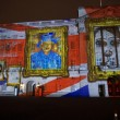 Buckingham Palace projection of portraits — Stok fotoğraf