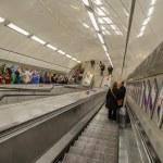 Escalator at London Underground — Stock Photo