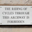 Sign cycling forbidden — Stock Photo