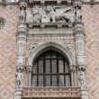 Sculpture on west facade of Doge — Stock Photo #18653337