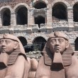 Props outside the Arena di Verona — Stock Photo