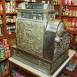 Store interior wirh vintage cash register — Stock Photo