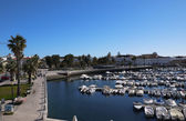 Harbor view in the city of Faro, Portugal — Stock Photo