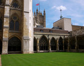 Westminster Abbey courtyard — Stock Photo