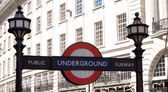 Underground sign London — Stock Photo