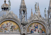 Facade mosaics at St. Mark — Stock Photo