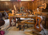 Violin workshop — Stock Photo