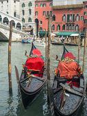 Two gondolas in Venice — Stock Photo