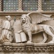 Doge and winged lion of Venice — Stock Photo