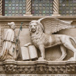 Doge and winged lion of Venice — Stock Photo #23688243