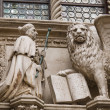 Doge and winged lion in Venice — Stock Photo #24617691