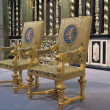 Stock Photo: Royal seats as used during inauguration of King Willem-A