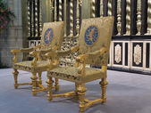 The Royal seats as used during the inauguration of King Willem-A — Stock Photo
