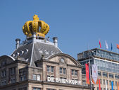 A building in the city of Amsterdam has been crowned during inau — Stock Photo