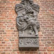 Commemorative sculpture for PC Hooft at Muiden Castle — Stock Photo