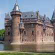 Castle De Haar, The Netherlands, surrounded by a moat — Stock Photo