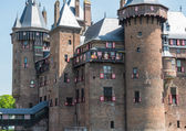 Castle De Haar, The Netherlands, decorated with coats of arms — Stock Photo
