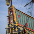 Stern of Batavia historic tall ship — Stock Photo