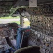 Stock Photo: Cockpit of jumbo jet