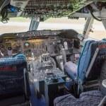Cockpit of a jumbo jet — Stock Photo #34496165