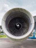 Engine of a jumbo jet — Stock Photo