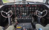 Cabina de un avión vintage — Foto de Stock