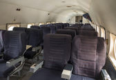 Cabin of a vintage airliner — Foto Stock