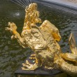 Stock Photo: Golden dragon in fountain