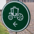 Traffic sign carriages — Stock Photo