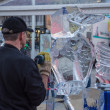 Stock Photo: Ice sculpting at Sculpture Festival
